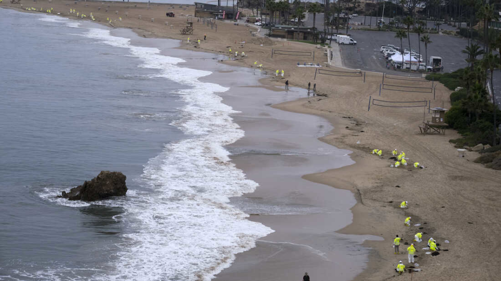 Coast Guard says a ships anchor dragged California oil pipeline that later leaked