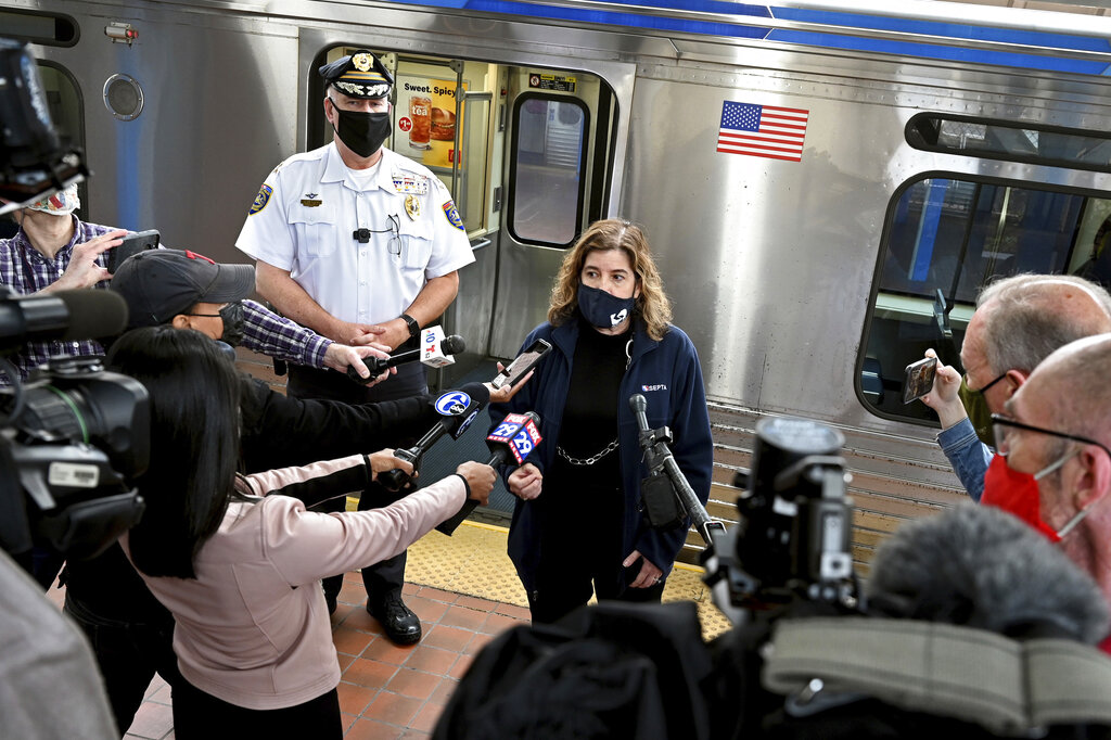 Commuters held up phones as woman was raped on Philadelphia train, police say